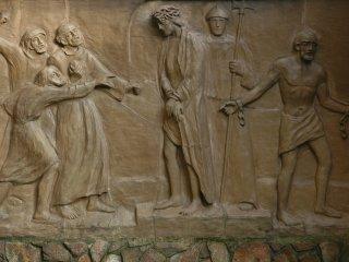 釈放されるバラバ、 死の宣告を受けるイエス